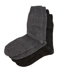 Neiman Marcus Cashmere Blend Two Pack Socks Black Charcoal