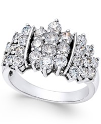 Macy's Diamond Cluster Ring 2 Ct. T.W. In 14K White Gold