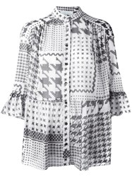 Iro Houndstooth Print Shirt White