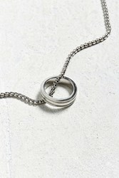Urban Outfitters Uo Silver Ring Pendant Necklace