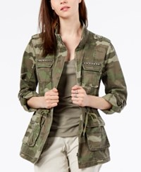 Inc International Concepts Cotton Camouflage Print Utility Jacket Created For Macy's Olive Drab