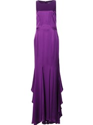 Zac Posen Fit And Flare Gown Pink Purple