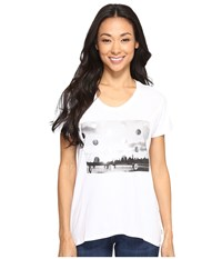 Converse Metallic Photo Femme Short Sleeve Tee White Women's T Shirt