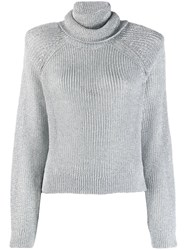 Rta Turtleneck Jumper Silver