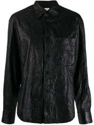 Zadig And Voltaire Leather Shirt Black