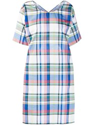 Ports 1961 Plaid Midi Dress Blue