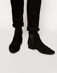 Frank Wright Suede Chelsea Boots Black