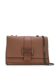Marc Ellis Studded Shoulder Bag Brown