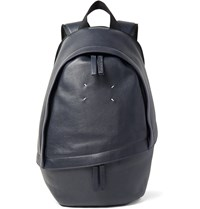 Maison Martin Margiela Full Grain Leather Backpack Blue