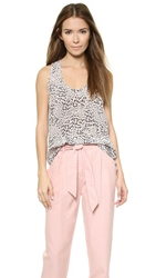Rebecca Taylor Ombre Leo Tank Pink Pearl