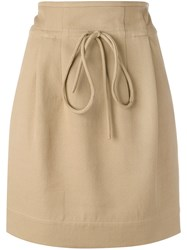 Iro Mini Skirt Women Cotton Polyamide 38 Brown