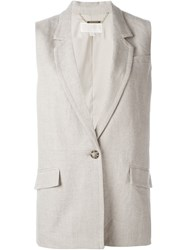 Michael Michael Kors Single Button Gilet Nude And Neutrals