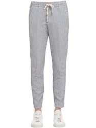 Berwich 17.5Cm Cotton And Linen Blend Pants