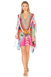Camilla Short Lace Up Kaftan Pink