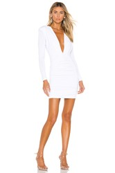 Nookie Temptation Long Sleeve Mini Dress White