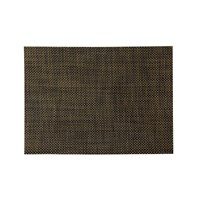 Chilewich Basketweave Rectangle Placemat Black Gold