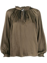 Zadig And Voltaire Theresa Gathered Detail Blouse 60