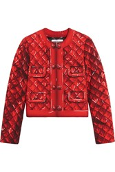 Moschino Printed Crepe Jacket Red
