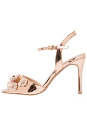 Dorothy Perkins Scarlett High Heeled Sandals Metallic Rose Gold