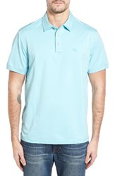 Tommy Bahama Men's Big And Tall Tropicool Spectator Polo Graceful Sea