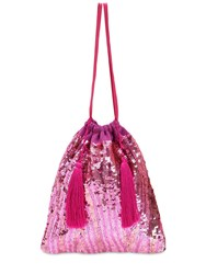 Attico Sequins Pouch Light Fuchsia