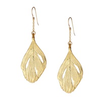 Chupi Maxi Swan Feather Earrings Gold
