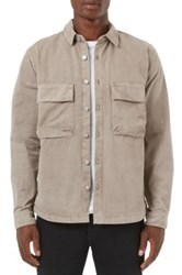 Topman Utility Pocket Shirt Beige
