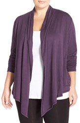 Plus Size Women's Lucky Brand Drape Front Cardigan
