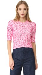 Carven Short Sleeve Sweater Rose