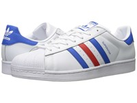 Adidas Superstar Footwear White Blue Red Men's Classic Shoes