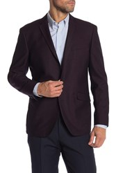 Kenneth Cole Reaction Two Button Notch Lapel Blazer 602Burgund
