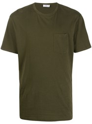 Closed Chest Pocket T Shirt Green