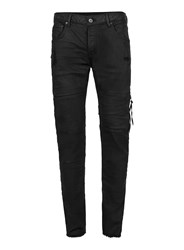 Topman Aaa Black Coated Denim Zip Skinny Jeans