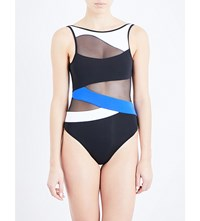 Jets By Jessika Allen Electrify High Neck Swimsuit Black Oceanic