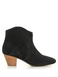 Isabel Marant Etoile Dicker Suede Ankle Boots Black