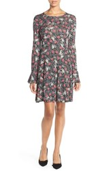 Women's French Connection Floral Print Jersey A Line Dress