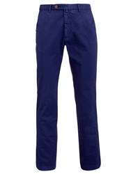 Hackett London Stretch Twill Cotton Chinos Navy