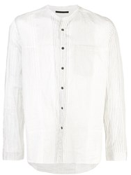 The Viridi Anne Striped Long Sleeve Shirt White