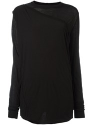 Rick Owens Drkshdw Gathered Overlay Top Black