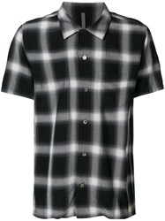 Attachment Checked Style Shirt Black