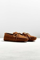 Minnetonka Double Bottom Fleece Slipper Brown