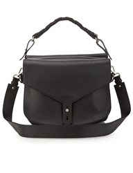 Thakoon Black Leather Hudson Saddle Bag