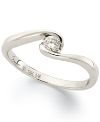 Sirena Diamond Bridal Ring In 14K White Gold 1 8 Ct. T.W.