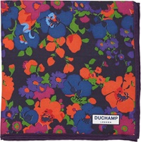 Duchamp Abstract Floral Pocket Square Multi