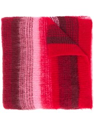 Dondup Striped Scarf Red