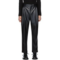 Alexander Wang Black Stretch Latex Trousers