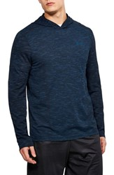 Under Armour Threadbone Fitted Seamless Hoodie Academy Moroccan Blue