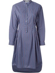 Paul By Paul Smith Printed Shirt Dress Blue