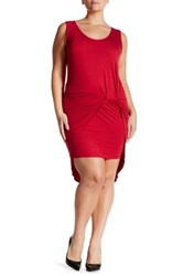 Vanity Room Knotted Knit Tank Dress Plus Size Red