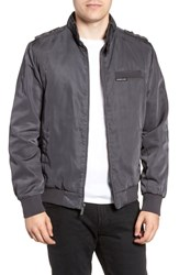Members Only Iconic Racer Jacket Charcoal